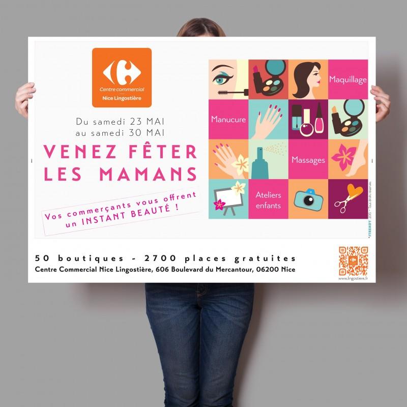 Affiche fête des mères 2015, Carrefour Lingostière, by #trendy