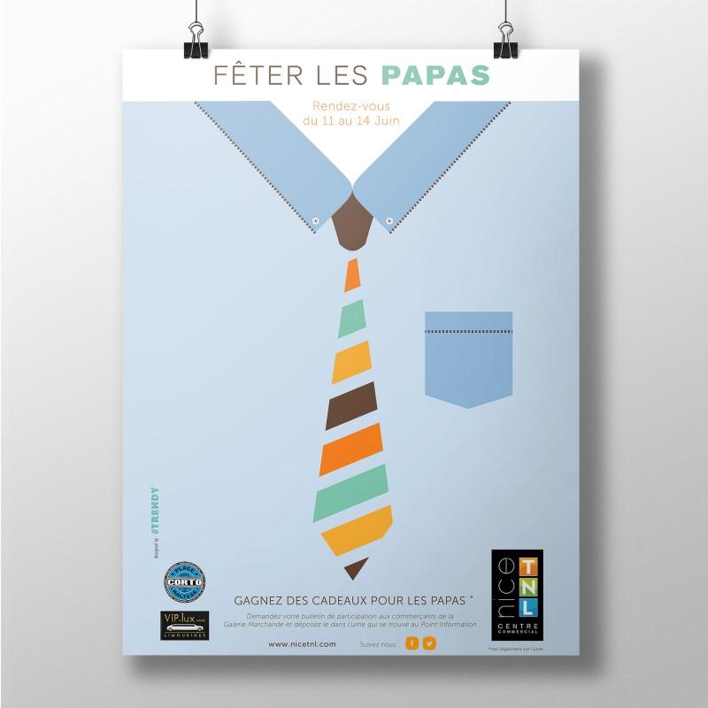 Affiche fête des pères 2014, Nice TNL, by #trendy